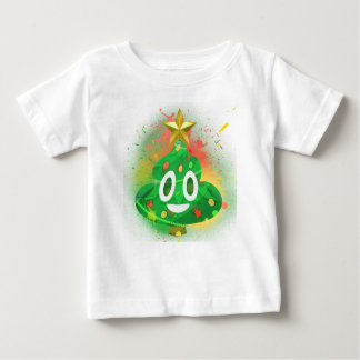 Emoji Christmas Tree Spray Paint Baby T-Shirt