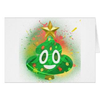 Emoji Christmas Tree Spray Paint Card