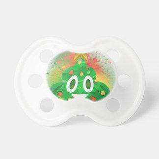 Emoji Christmas Tree Spray Paint Pacifier