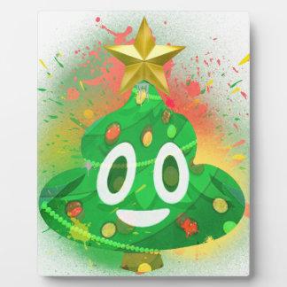 Emoji Christmas Tree Spray Paint Plaque
