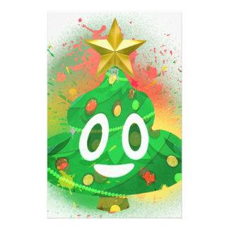 Emoji Christmas Tree Spray Paint Stationery