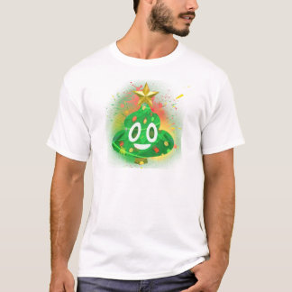 Emoji Christmas Tree Spray Paint T-Shirt