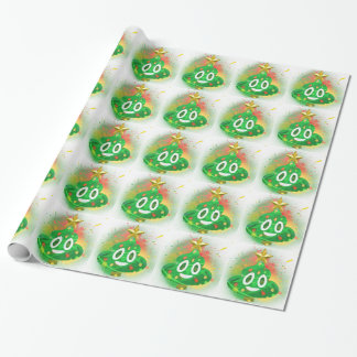 Emoji Christmas Tree Spray Paint Wrapping Paper