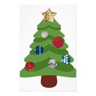 emoji christmas tree stationery