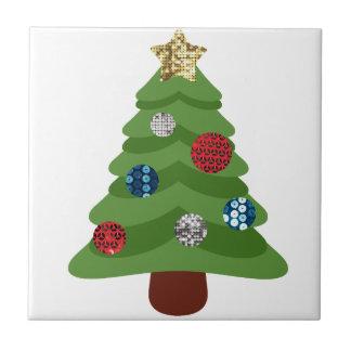 emoji christmas tree tile