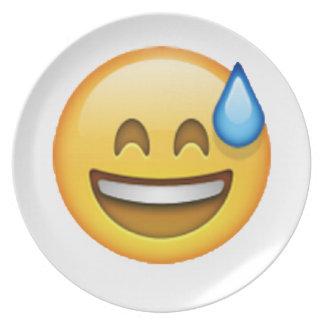 Emoji - Cold Sweat Plate