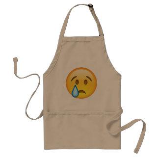 Emoji - Crying Standard Apron