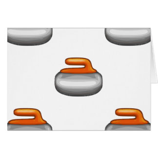 Emoji Curling Stone Card