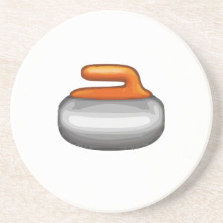 Emoji Curling Stone Coaster