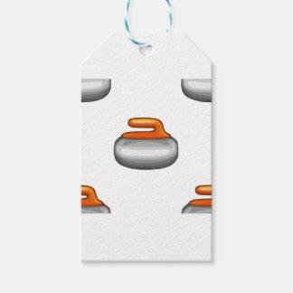 Emoji Curling Stone Gift Tags