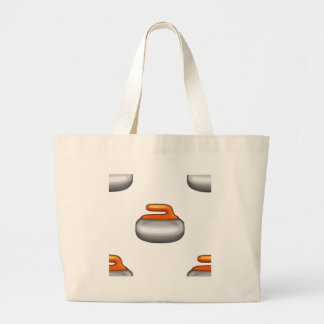 Emoji Curling Stone Large Tote Bag