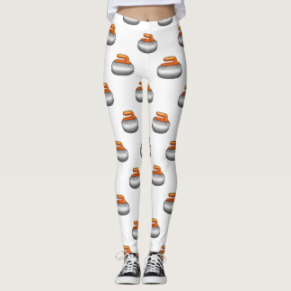 Emoji Curling Stone leggings