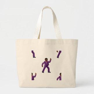 Emoji Dancing Man Large Tote Bag