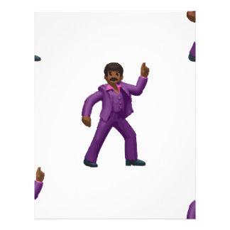 Emoji Dancing Man Letterhead