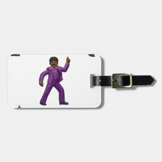 Emoji Dancing Man Luggage Tag
