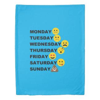 Emoji Days Duvet Cover