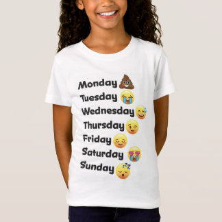 Emoji Days of the Week Shirt