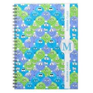 Emoji Design Funny Fun Faces Spiral Notebook