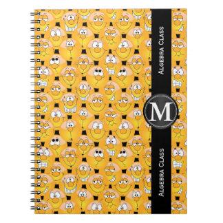 Emoji Design Funny Yellow Faces Notebook