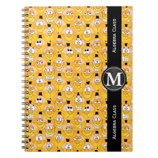 Emoji Design Funny Yellow Faces Notebooks