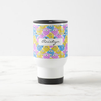 Emoji Design in Pastel Colors Travel Mug