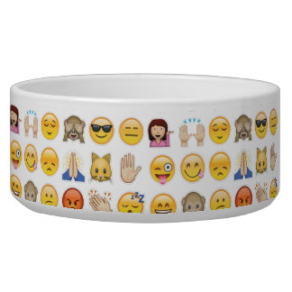 emoji dog bowl