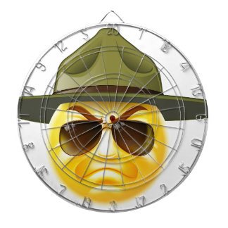 Emoji Emoticon Drill Sergeant Dart Boards