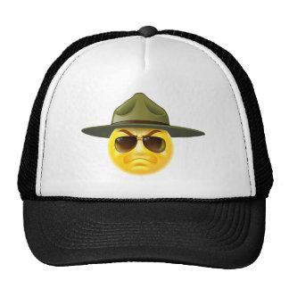 Emoji Emoticon Drill Sergeant Trucker Hat