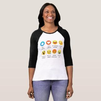 Emoji (emoticon) I Love SOFTBALL Sayings T-Shirt