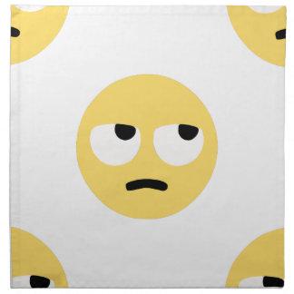 emoji eye rolling napkin