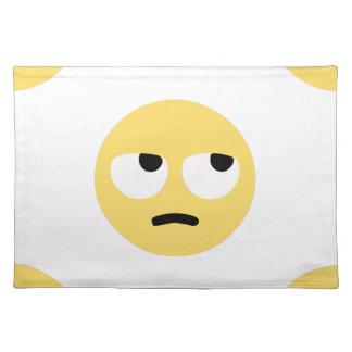 emoji eye rolling placemat
