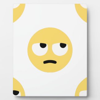 emoji eye rolling plaque