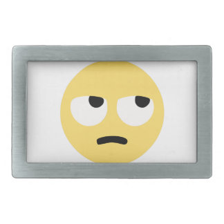 emoji eye rolling rectangular belt buckle