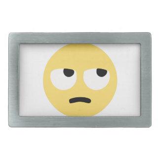 emoji eye rolling rectangular belt buckles