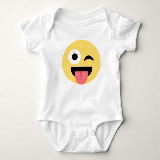 EMOJI FACE SMILEY BABY BODYSUIT