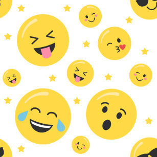 Emoji Faces Any Age Birthday Wrapping Paper