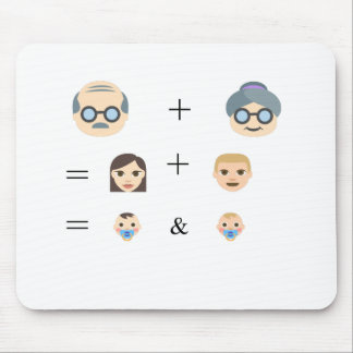 Emoji Family Tree Mouse Pad