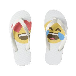 Emoji Flipflops - Emoji faces Kid's Flip Flops
