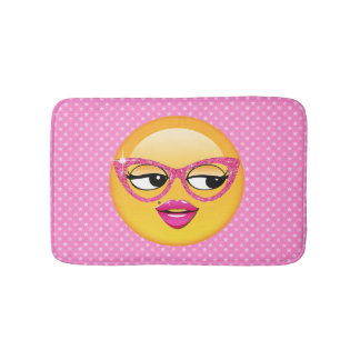 Emoji Flirty Girl ID227 Bathroom Mat