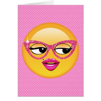 Emoji Flirty Girl ID227 Card