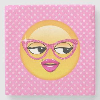 Emoji Flirty Girl ID227 Stone Coaster