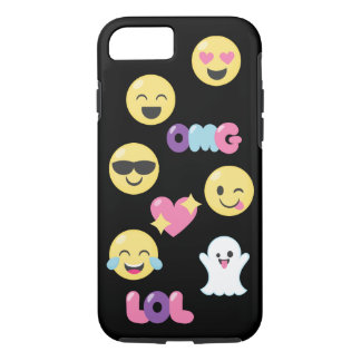 Emoji Fun Black iPhone 7 Case