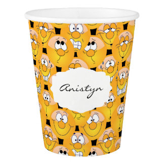 Emoji Funny Yellow Faces Paper Cup
