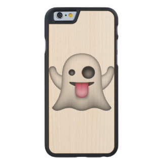 Emoji - Ghost Carved Maple iPhone 6 Case