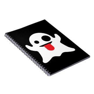 Emoji Ghost Spiral Notebook