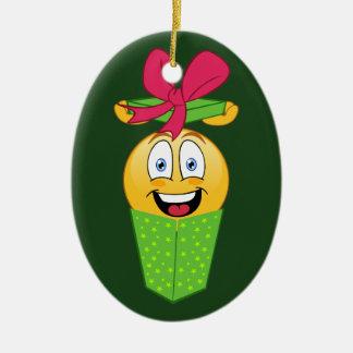 Emoji Gift Christmas Ornament