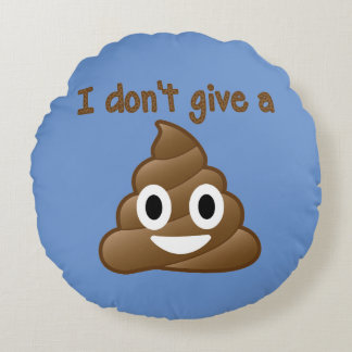 Emoji Give A Poo Round Pillow