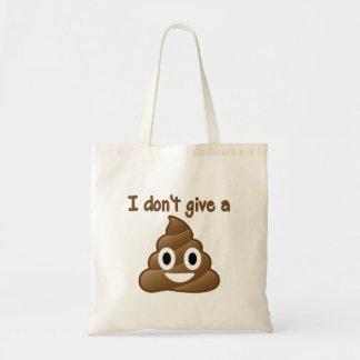 Emoji Give A Poo Tote Bag