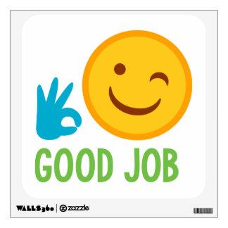 Emoji Good Job Wall Decal