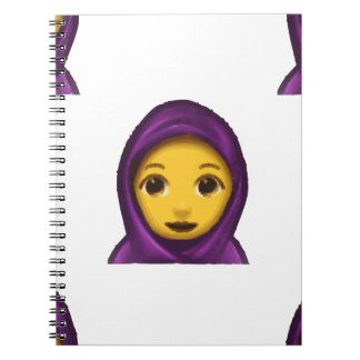 emoji hajib notebook